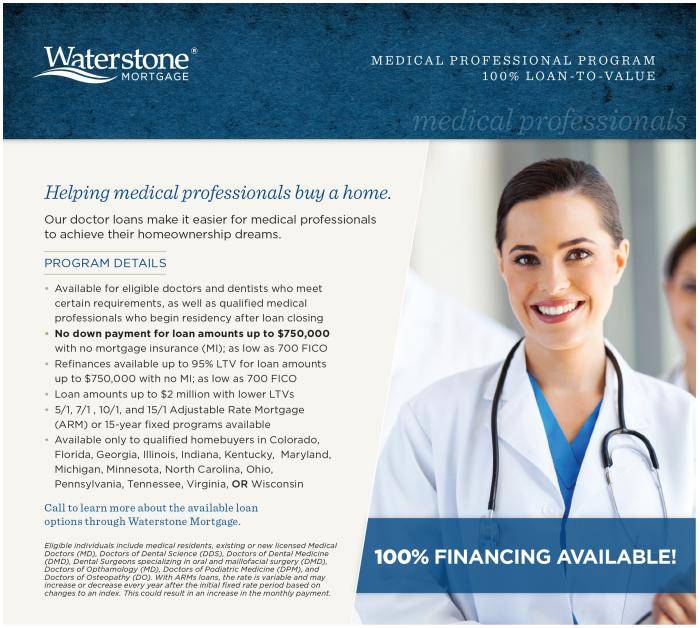 Waterstone Doctor Mortgage Loan